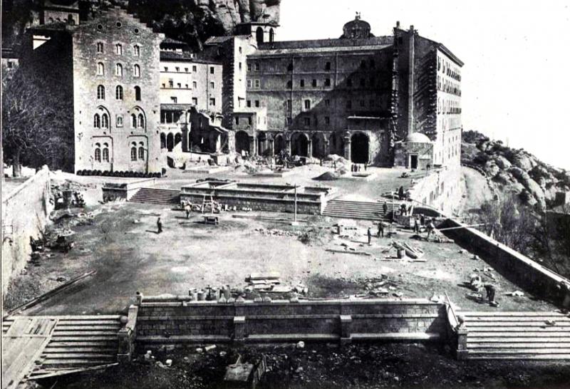 Montserrat estat de les obres Març 1930