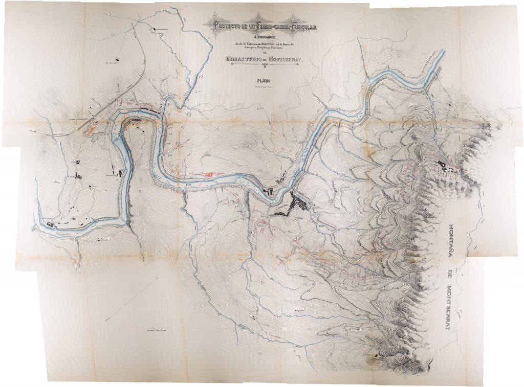 Mapa de Joaquim Carrera 1808 pel disseny del cremallera de Montserrat