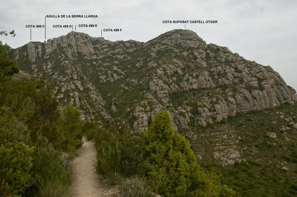 Camí de Collbató per la Fita en la cruïlla GR6