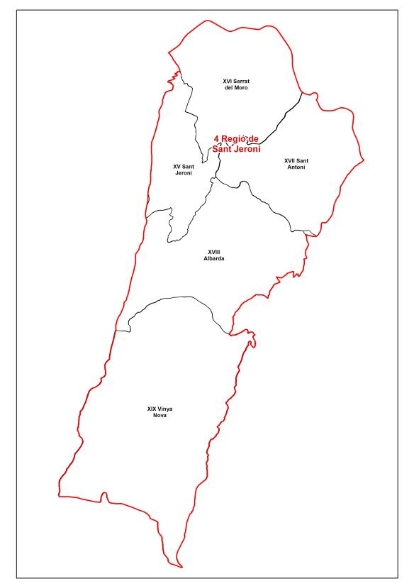 Regio seccio IV Sant Jeroni dibuix