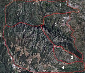 Zones hidrologiques de Montserrat