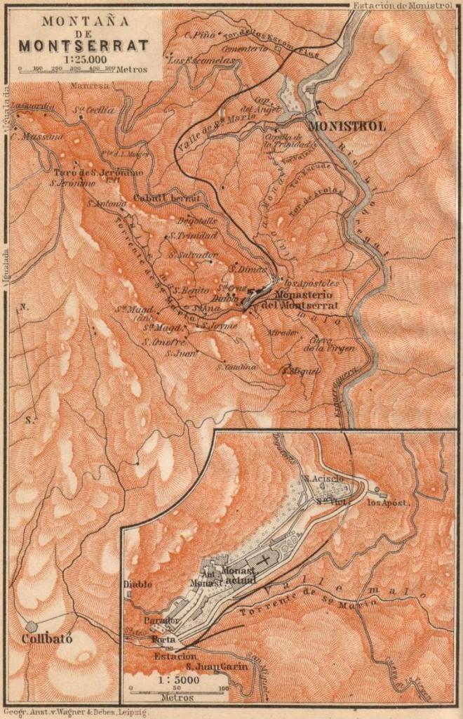 Baedeker mapa Montserrat 3
