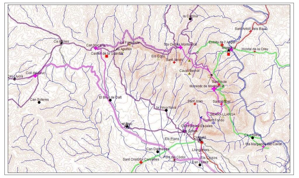Camis romeus per dins de la muntanya de Montserrat (Muset i Vives, 2011)