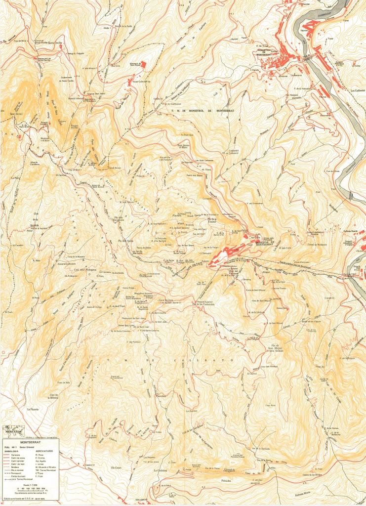 Mapa de Ramon Ribera, full 1 1975