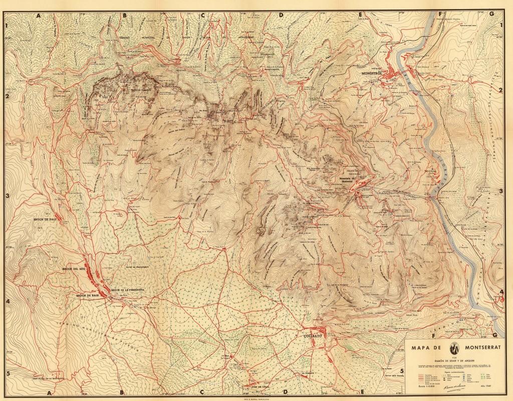 Mapa de Ramon de Semir i Arqué, 1949