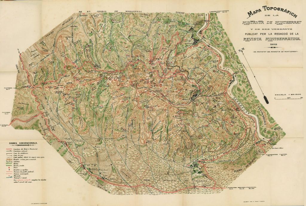 Mapa de Joan Cabeza, edició 1909