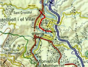 Montserrat sistema carreteres 1141