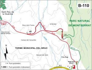 Montserrat sistema carreteres B 110