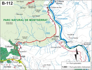 Montserrat sistema carreteres B 112