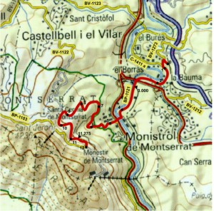 Montserrat sistema carreteres BP 1121 Diputacio