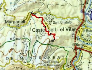 Montserrat sistema carreteres BV 1122