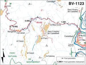 Montserrat sistema carreteres BV 1123
