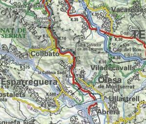 Montserrat sistema carreteres C 55 parcial