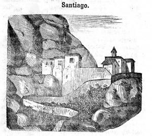 Ermita de Sant Jaume Tres dies en Montserrat 1858  retocada