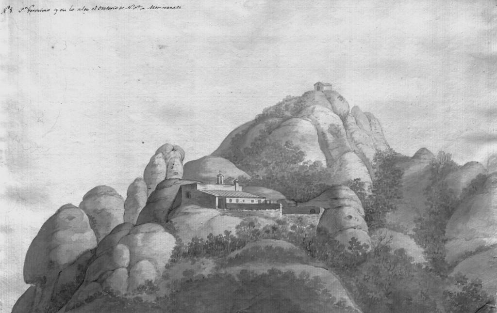 Ermita de sant Jeroni. Aiguafort de Pere Pau Muntanya i Francesc Remart (1790)