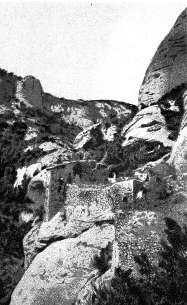 Ermita de santa Anna en Bellezas de Montserrat (1875)