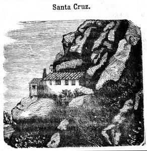 Ermita de la Santa Creu Tres dies en Montserrat 1858  retocada