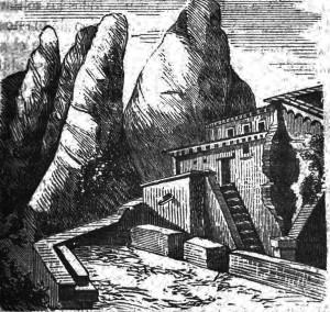 Ermita de sant Benet Tres dias en Montserrat 1858