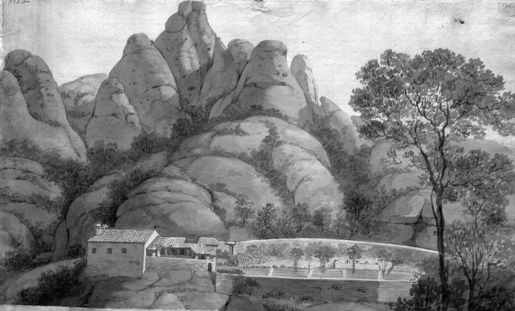 Ermita de santa Anna. Aiguafort de Pere Pau Muntanya i Francesc Remart (1790)