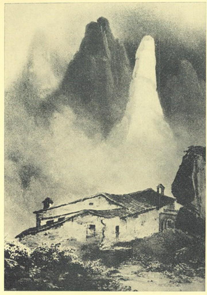 Ermita de santa Anna. Gravat de Jean Langlais (1830)