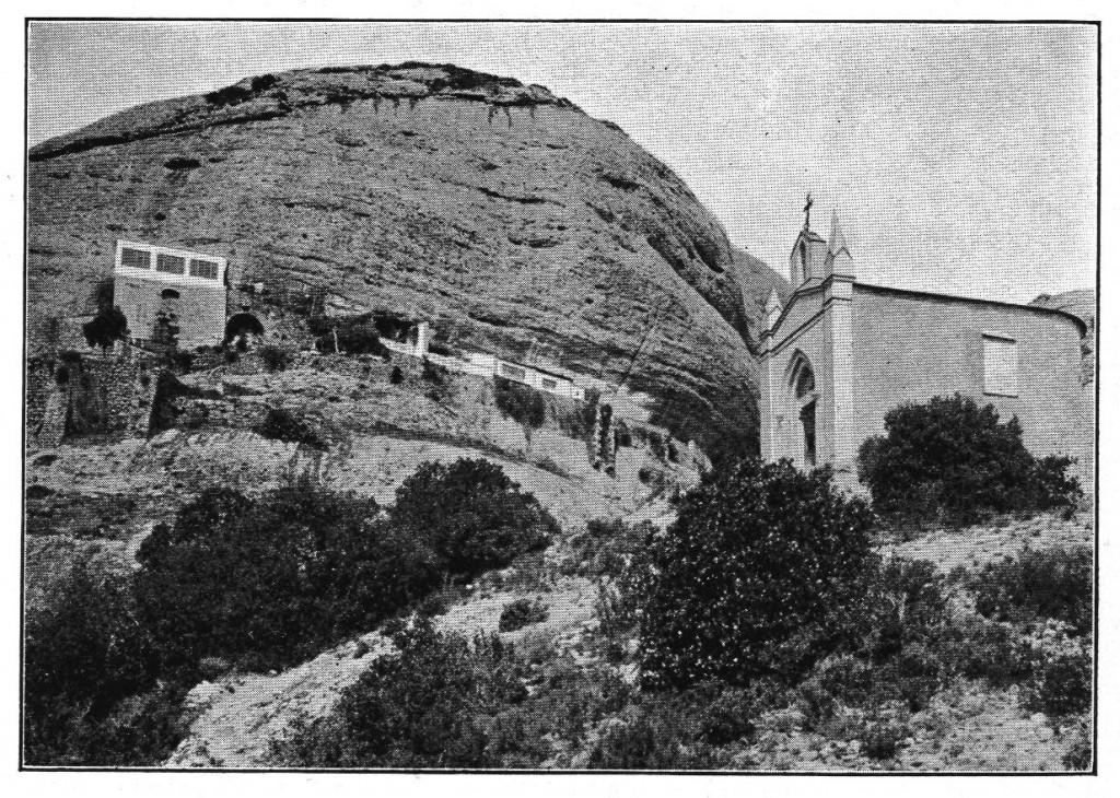 Ermites de sant Joan i sant Onofre. Montserrat album de 59 vistes Roca (1909)