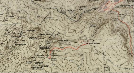 Santa Magdalena Mapa Diputacio 1976 vol 1967