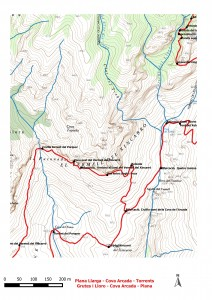 Dibuix Plana Llarga - torrnts Grutes i Lloro - Plana Llarga 2