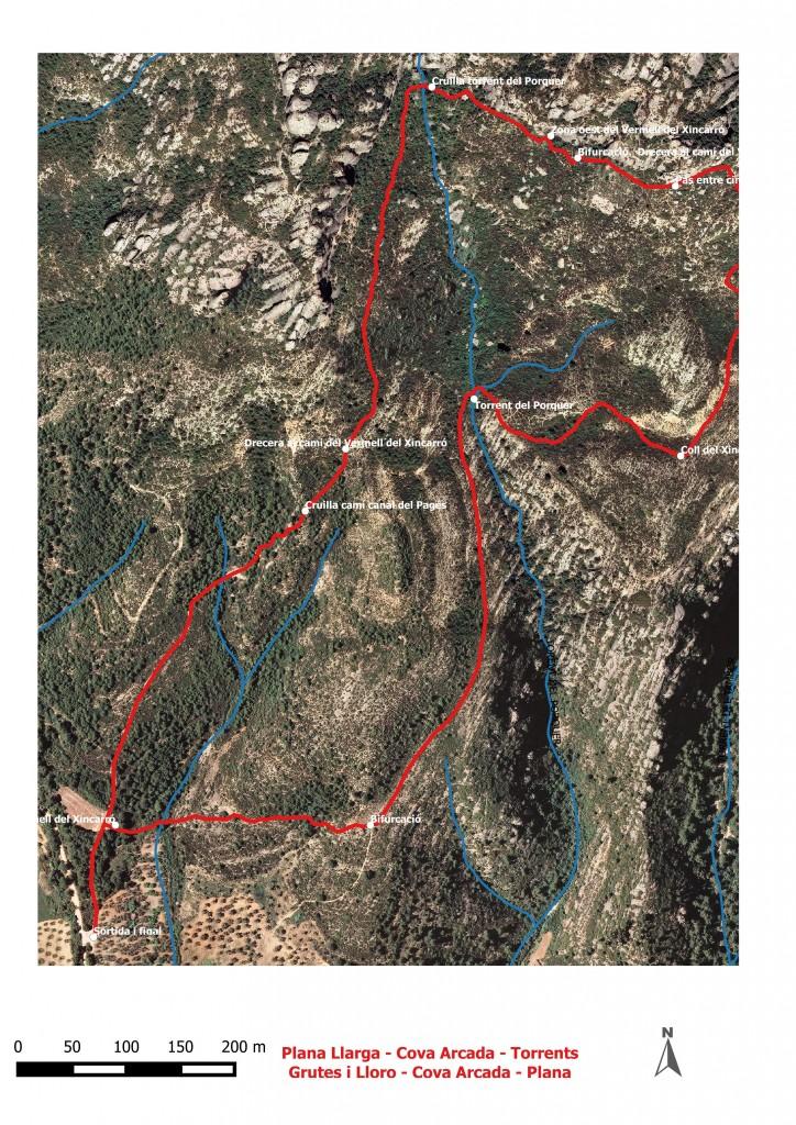 Dibuix Plana Llarga - torrnts Grutes i Lloro - Plana Llarga 5