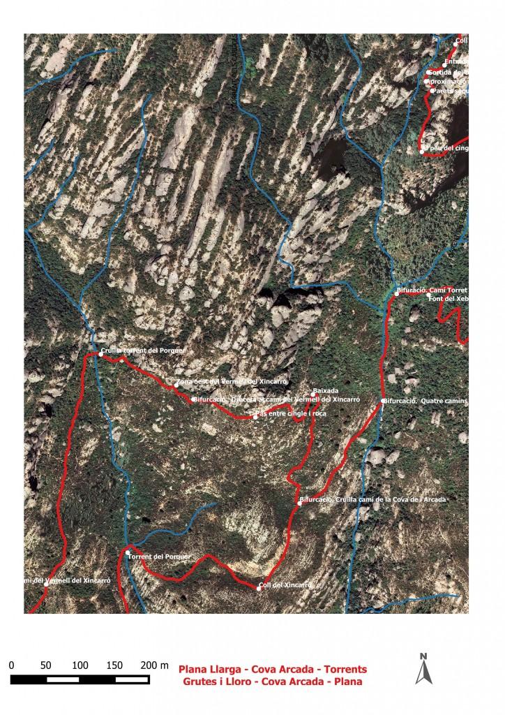 Dibuix Plana Llarga - torrnts Grutes i Lloro - Plana Llarga 6