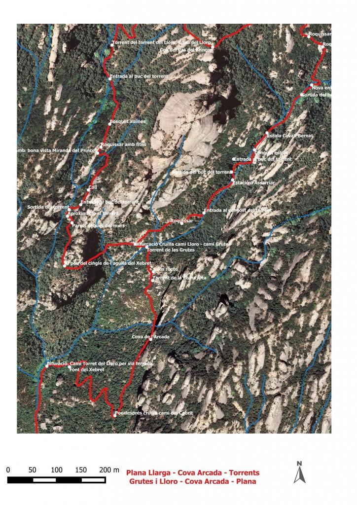 Dibuix Plana Llarga - torrnts Grutes i Lloro - Plana Llarga 7