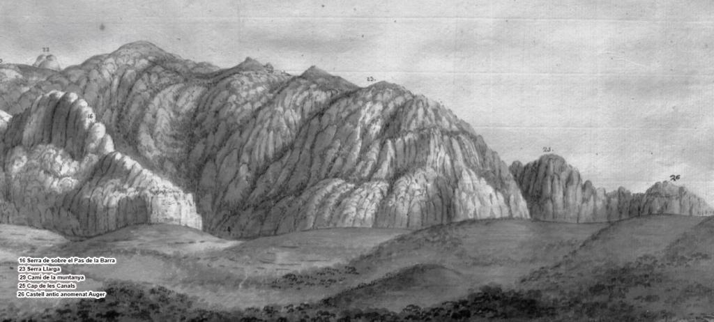 Serra Llarga - Representació de Pere Pau Montaña 1789