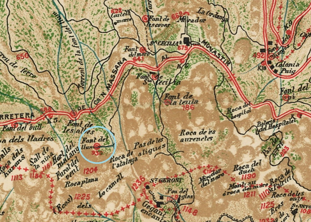 Font del Llum Cabeza 1909