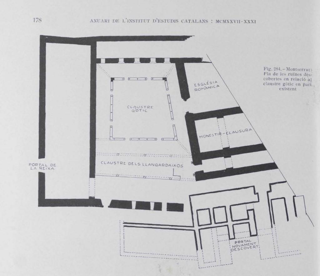 Mapa de l'article del Butlletí de l'Institut d'Estudis Catalans. Anuari Institut Estudis Catalans 1927 XXXI