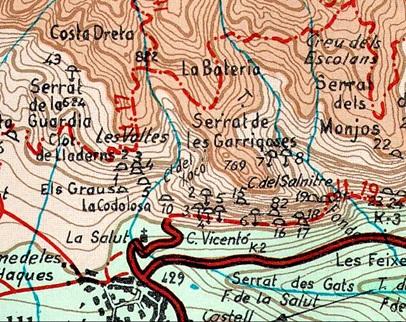Pou de la Costa Dreta Mapa Alpina  1975