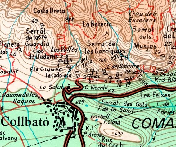 Pou de la Costa Dreta Mapa Alpina 1989