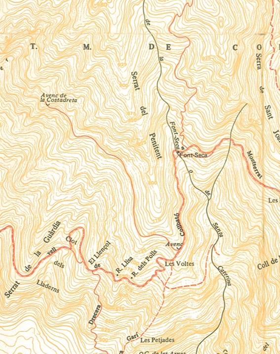 Pou de la Costa Dreta Mapa Ramon Ribera 1998
