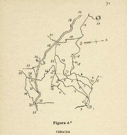 Mapa de la guia Montserrat. Itineraris 1909