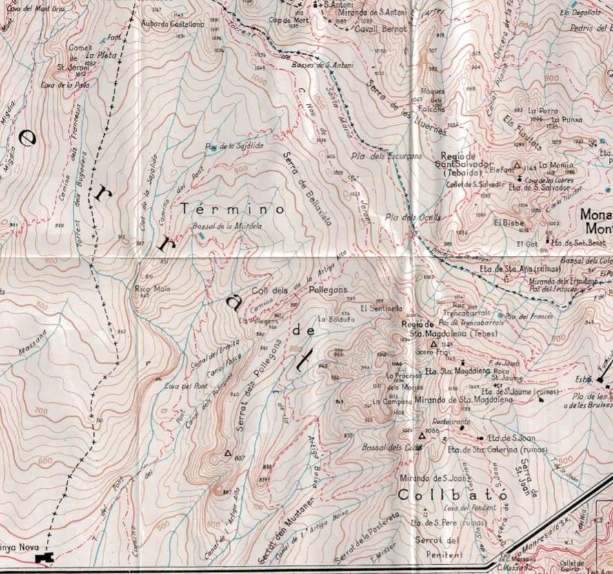 Pollesgons i les Artigues. Mapa Alpina 1963