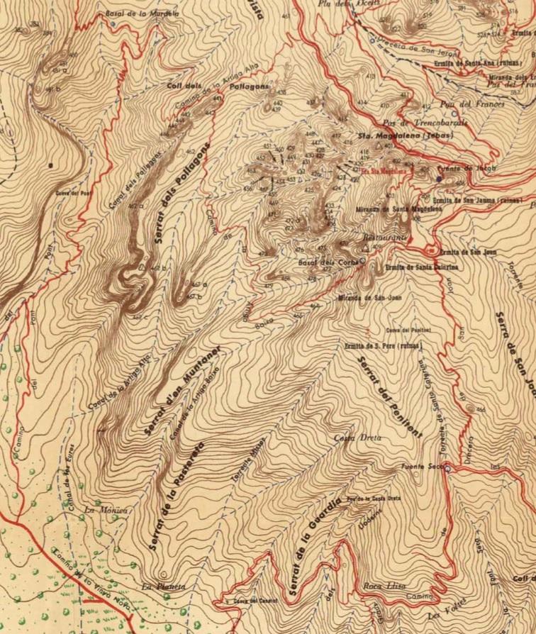 Mapa Ramon de de Semir 1949