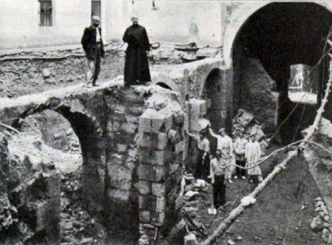 Antiga bodega i pati majordomia Butlleti Santuari març 1914