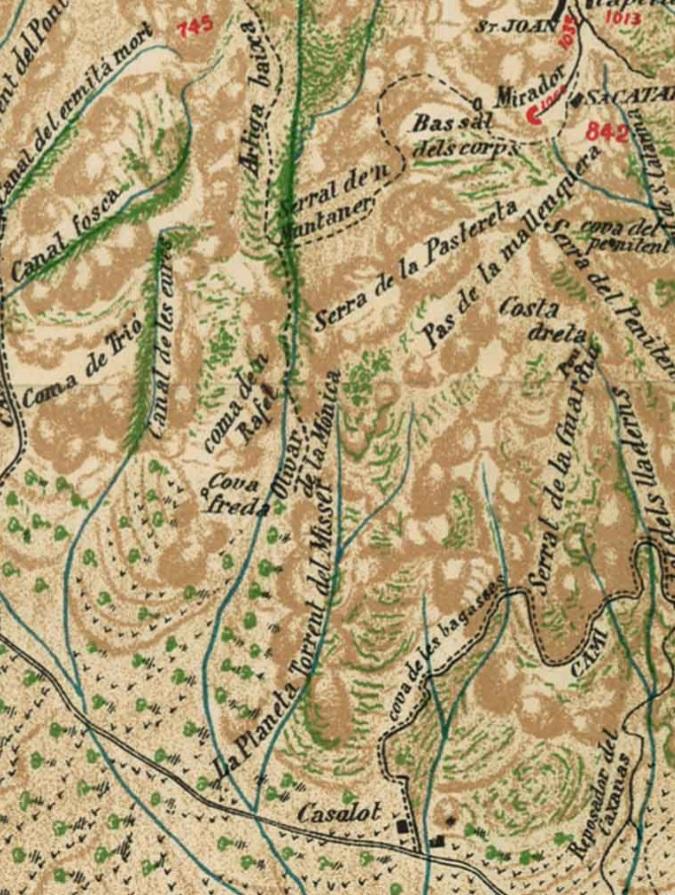 Fragment del mapa de Joan Cabeza