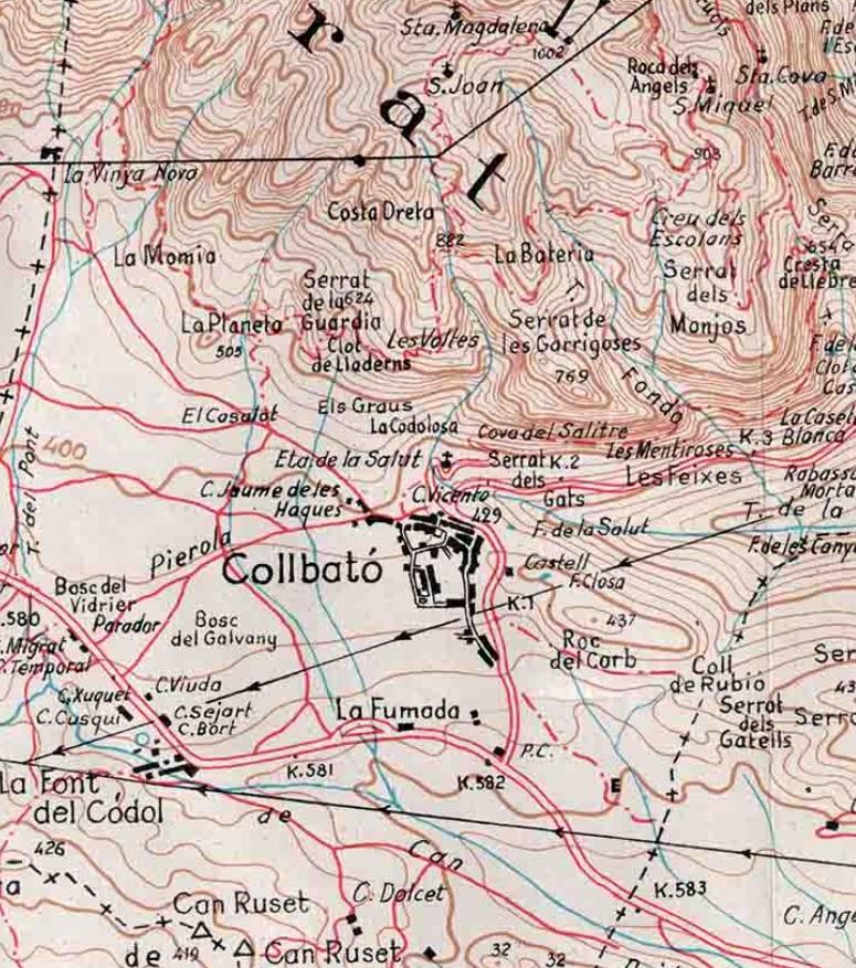 Torrent del Misser. Mapa editorial Alpina 1963