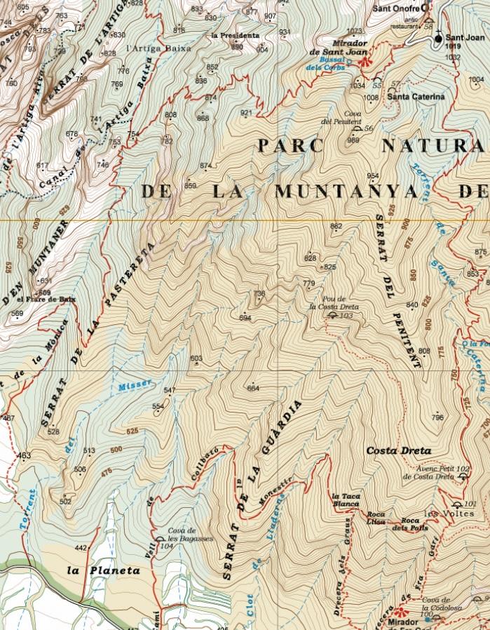 Torrent del Misser. Mapa editorial Alpina 2015