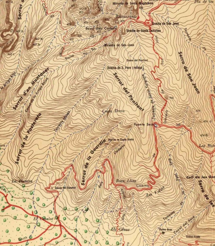 Torrent del Misser. Mapa Ramon de Semir 1949