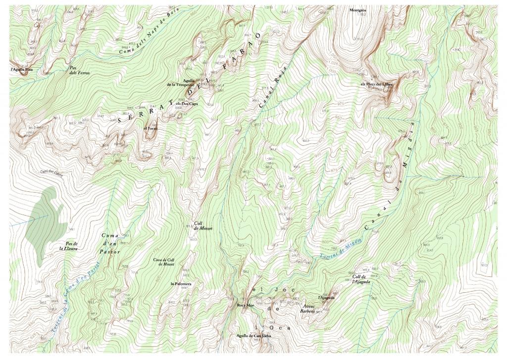 Regió de la Palomera, mapa Institut Cartogràfic i Geològic de Catalunya