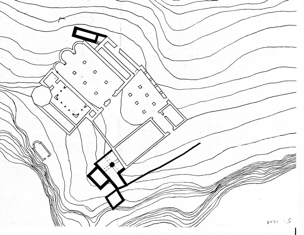 Església, monestir i santuari entorn 1408. Fons del pare Ricard M. Sans.