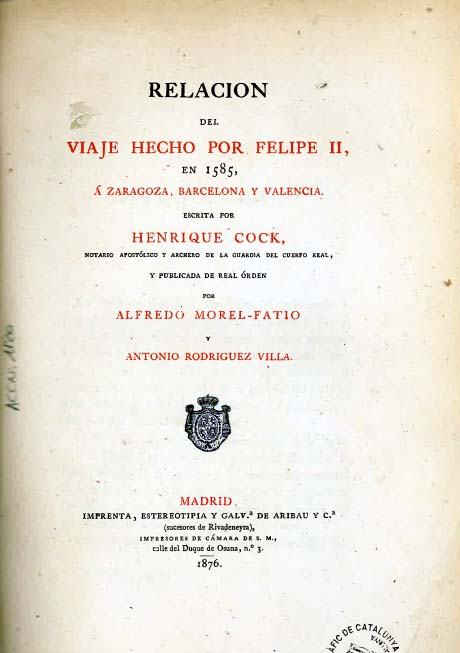 Portada del llibre d'Henrique Cock