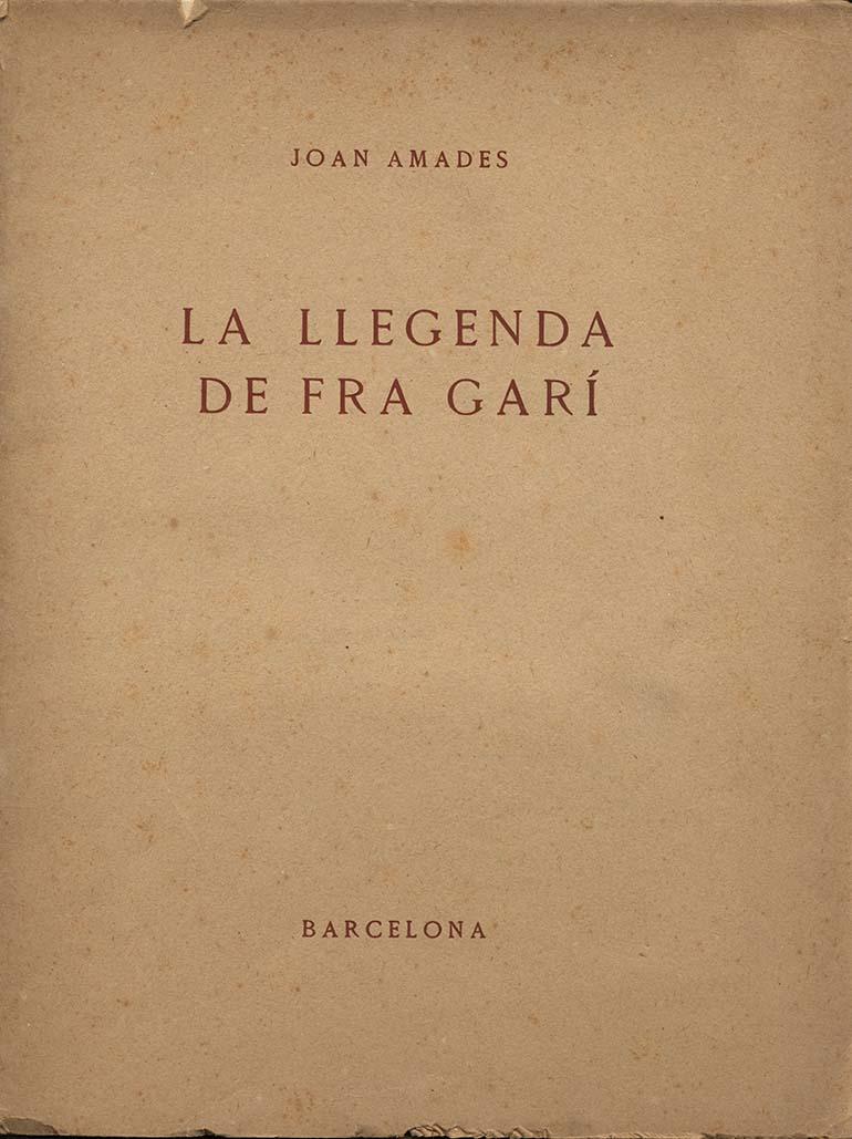 Llegenda Fra Gari Amades 1029