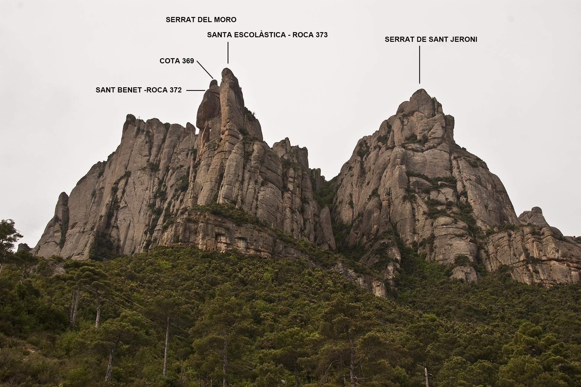 Serrat del Moro i Serrat de Sant Jeroni