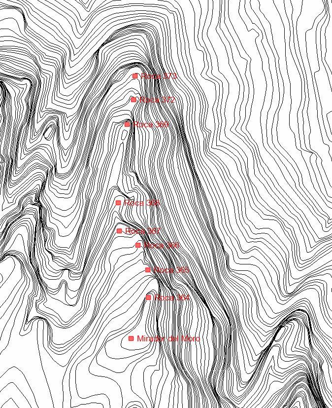 Serrat del Moro Topografic